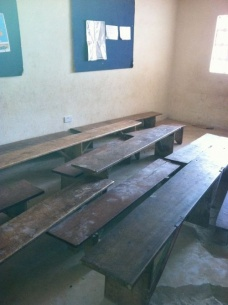 Jamaican classroom before donation