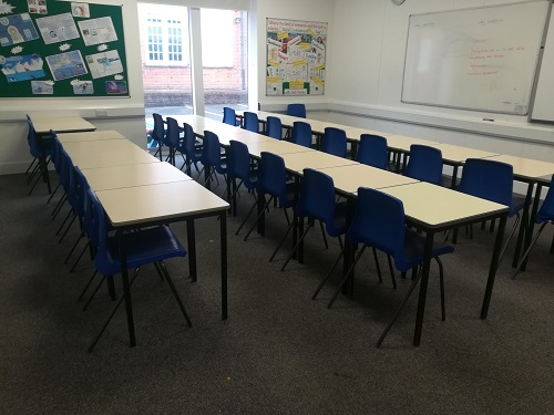 Used Single Student Desks and Chairs, Herts