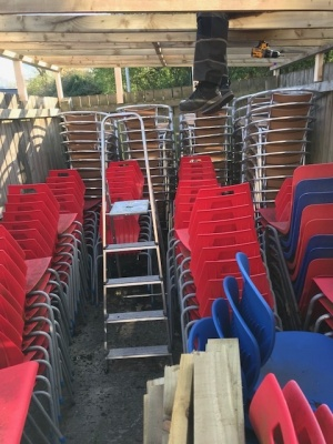 Used Stacking School Chairs, Leicester