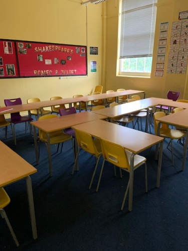 Used Classroom Tables and Chairs Age 11-16, London