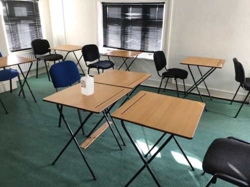 Used Folding Exam Tables, 1200 Tables and Upholstered Chairs, Nottingham
